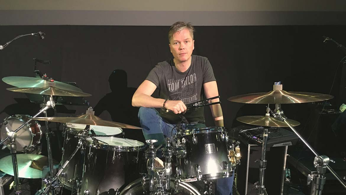 Gulli Briem, the band's drummer