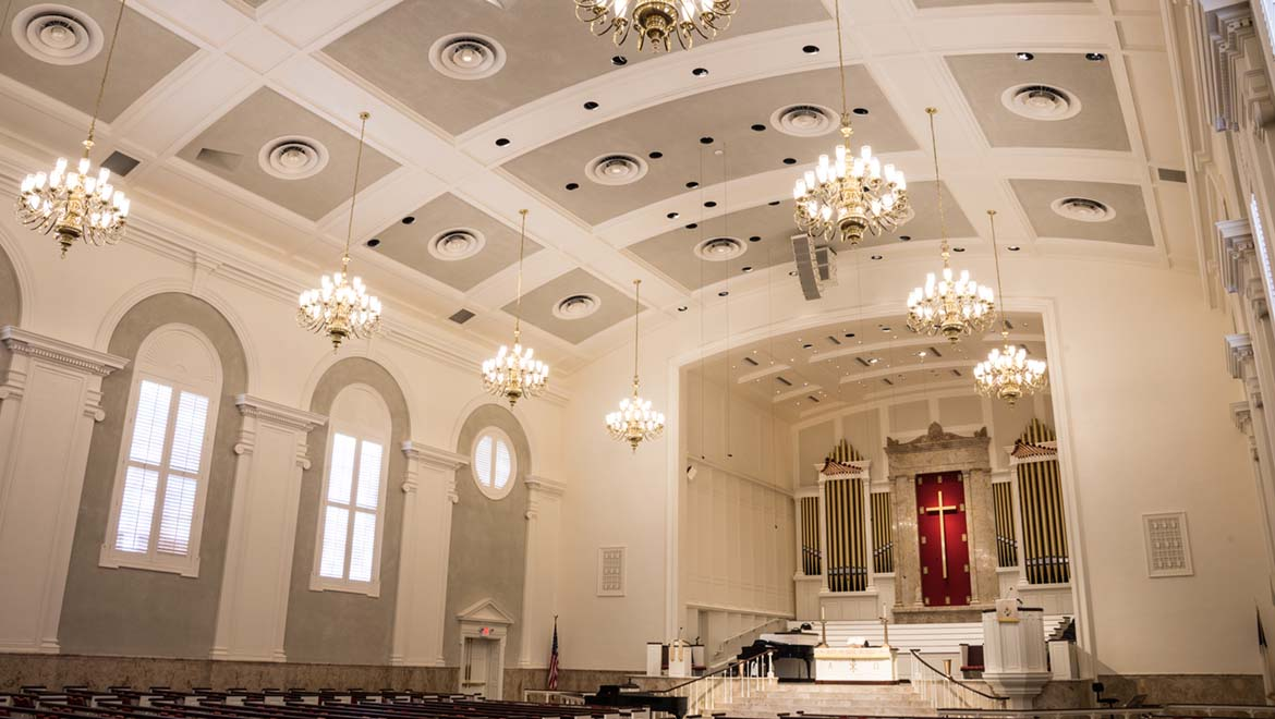 St. Luke's Methodist Church in Houston using DPA Microphones' d:dicate™