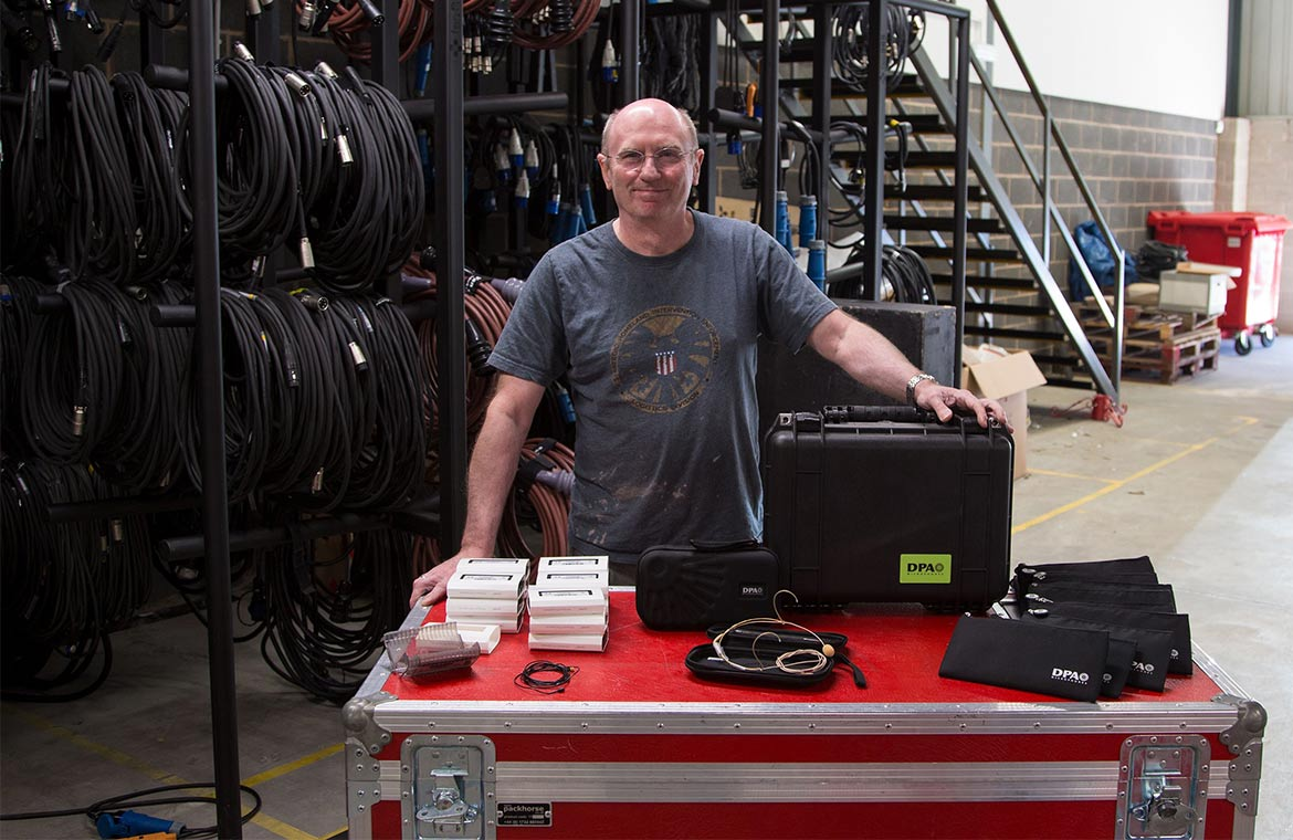 Mike Hayes, Director of Manchester-based broadcast rental company FAC365 with DPA mics.