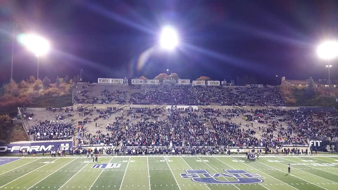 Maverik Stadium at Utah State University