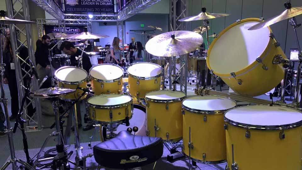 DPA microphones on drum set