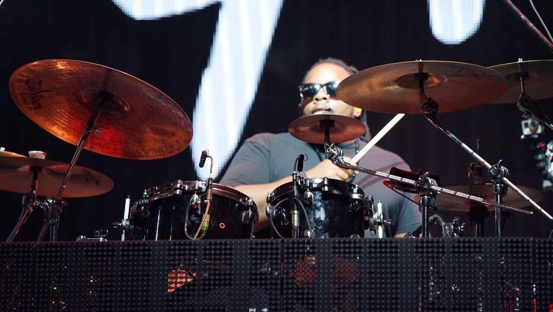 J Balvin's drummer, Marcus Thomas.