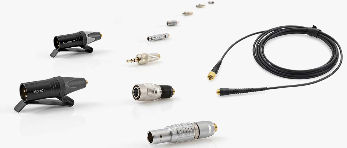Adapters for wireless for microphones with microdot