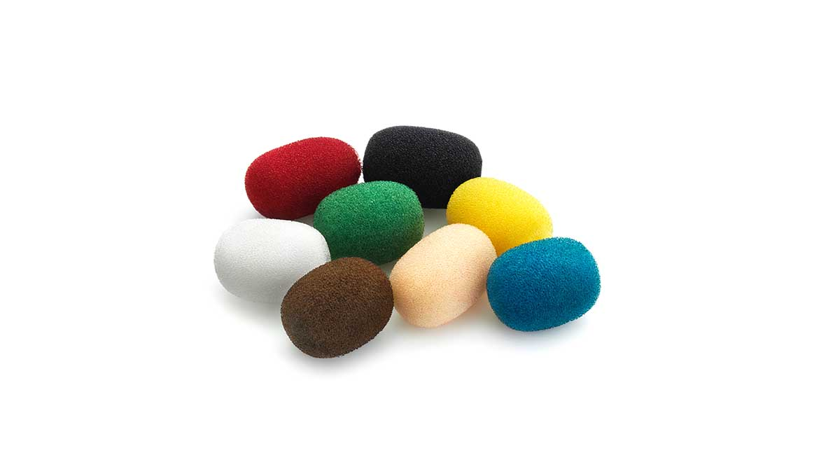 Foam Windscreen for Lavalier Microphone, Color Mix (DUA0570)